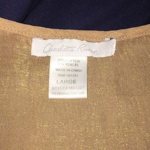 Charlotte Russe Tops - ❤️ 5 for $25 Gold peasant top